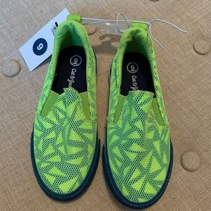 Cat & Jack Shoes - NWT Cat & Jack Boys Kiefer Neon Green Sneakers